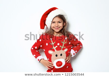 Little girl wearing knitted jumper Stock photo © photography33