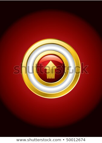 Going up gold trimmed red button Stock photo © vipervxw