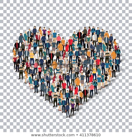 3d people heart in hand stock photo © quka