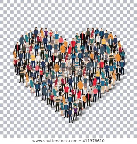 3次元の人々 中心 手 女性 愛 背景 ストックフォト © Quka