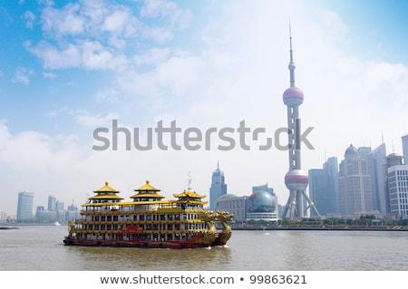 linha · do · horizonte · Xangai · China · viajar · asiático · Ásia - foto stock © billperry
