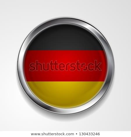 absztrakt · gomb · fémes · keret · argentín · zászló - stock fotó © saicle