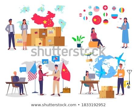 Globális vevő világ kereskedelem nemzetközi gazdaság Stock fotó © Lightsource