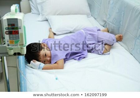 Kicsi fiú sürgősségi ellátás elnyűtt ki baba Stock fotó © jarenwicklund
