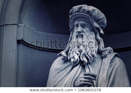 Statue of Leonardo da Vinci Stock photo © TanArt
