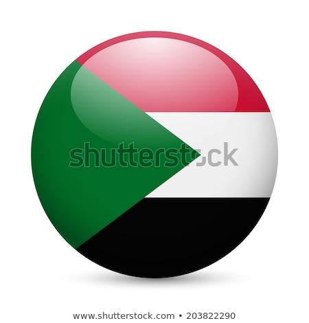 Gomb Szudán térkép zászló Afrika vidék Stock fotó © Ustofre9