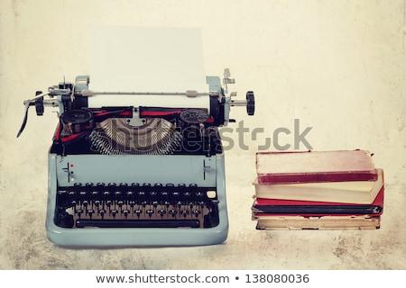 Old Typewriter With Books Retro Colors On The Desk Zdjęcia stock © Artush