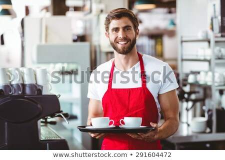 Close-up of man holding tray Stock photo © zzve