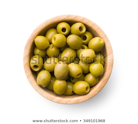 Green olives and some pits Stock photo © digitalr