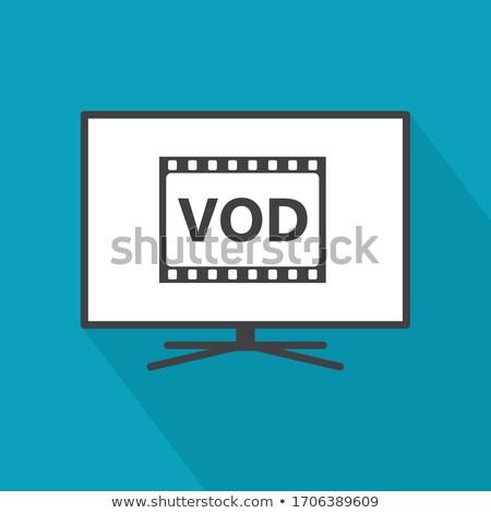 Tecnología de la información botón moderna 3d televisión Foto stock © tashatuvango