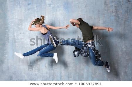 прыжки · молодые · танцоры · изолированный · белый · женщину - Сток-фото © elnur