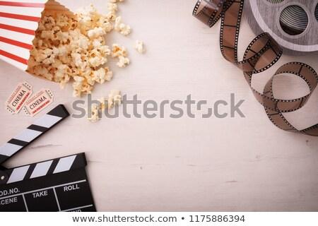 попкорн оранжевый фильма кино кукурузы Сток-фото © g215