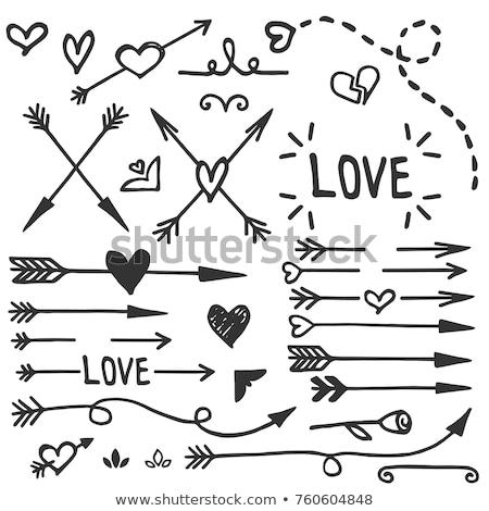 heart with arrow stock photo © brux
