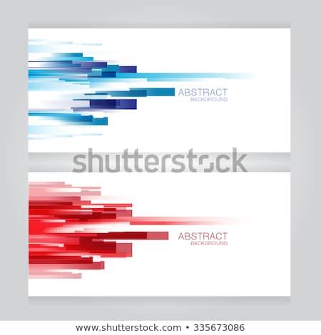 Absztrakt fejléc színes elegáns hullám vektor Stock fotó © bharat