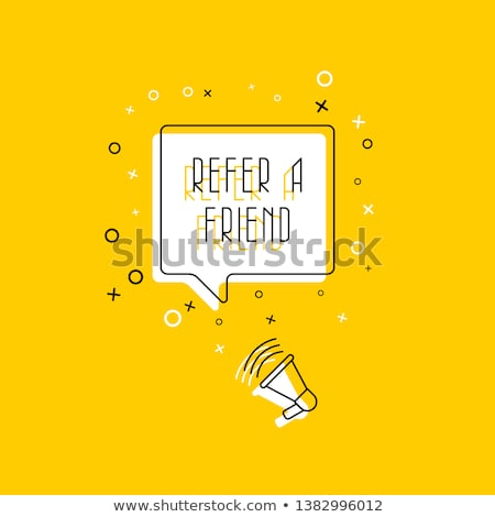 Informações megafone mão marcador transparente Foto stock © ivelin