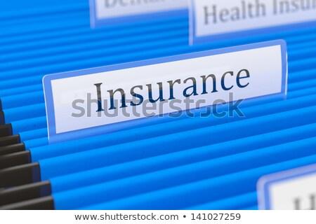 hanging file folder labeled with insurance stock photo © zerbor