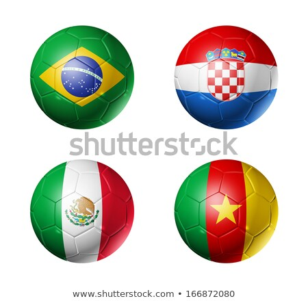 Soccer ball and brasil flag Stock photo © vipervxw