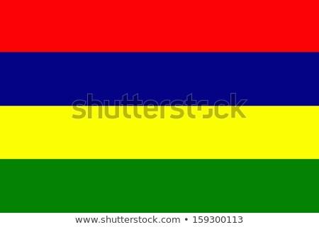 Маврикий флаг сфере изолированный белый графика Сток-фото © Harlekino