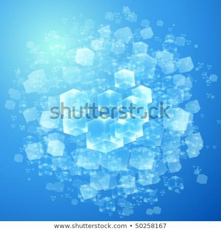 Niebieski streszczenie geometria wektora geometryczny Zdjęcia stock © LittleCuckoo