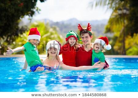 portret · gelukkig · gezin · permanente · samen · strand - stockfoto © monkey_business