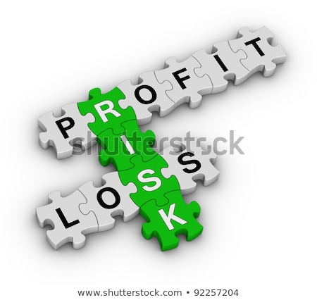 Stock Trading On Green Puzzle Stok fotoğraf © ALMAGAMI