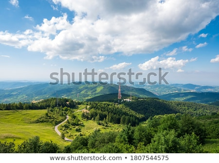 Hill Top Transmission Tower Stock photo © rghenry