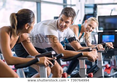 Stok fotoğraf: Spor · salonu · örnek · spor · eğlence · egzersiz · komik