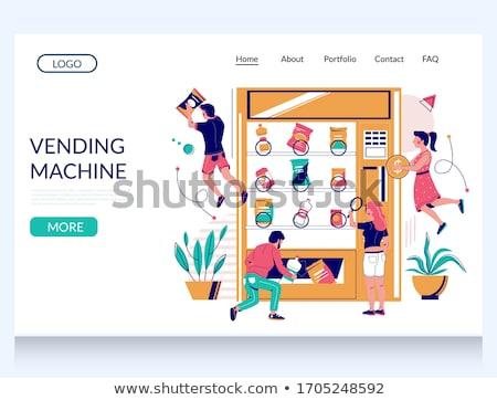 Ontwikkeling display automaat opschrift business onderwijs Stockfoto © tashatuvango