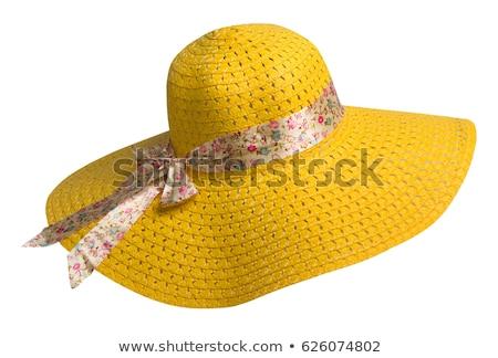 Güzellik şapka güzel bir kadın karanlık seksi Stok fotoğraf © eleaner