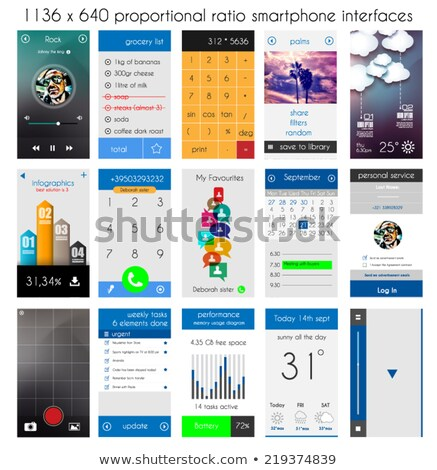 háló · sablon · okostelefon · bejelentkezés · űrlap · telefon - stock fotó © davidarts