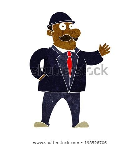 Karikatür iş adamı işadamı iş el Stok fotoğraf © lineartestpilot
