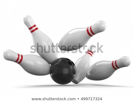 Bowling pins fall stock photo © Jumbo2010