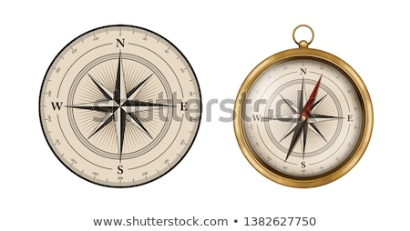 Rusty old compass Stock photo © lucielang