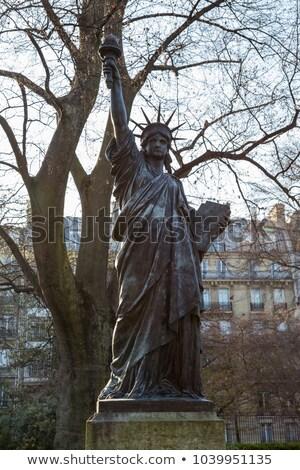 Szobor hörcsög modell Párizs Franciaország égbolt Stock fotó © dutourdumonde