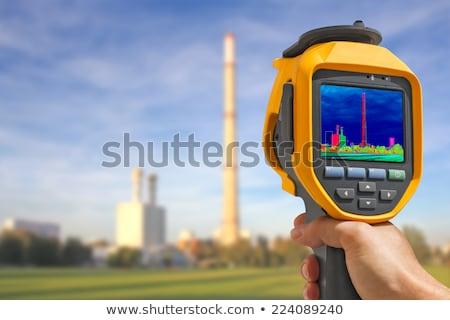 Thermovision image heating chimney Stock photo © smuki