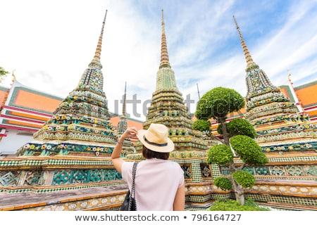 Kadın gezgin Bangkok kafkas budist Stok fotoğraf © kasto