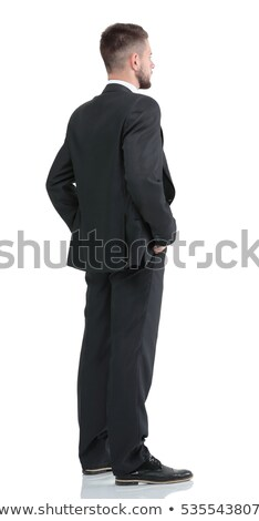 Full-length of a handsome businessman isolated on a white background Stock photo © deandrobot
