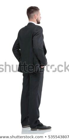 Przystojny biznesmen odizolowany biały człowiek wykonawczej Zdjęcia stock © deandrobot