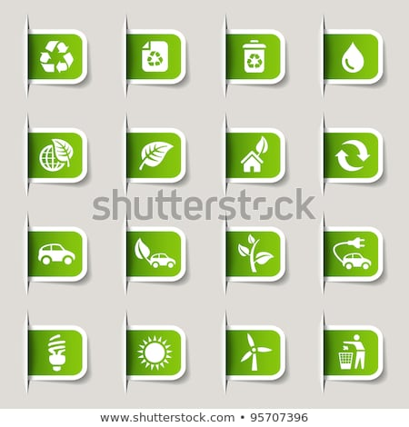 Protegido verde vector icono botón Internet Foto stock © rizwanali3d