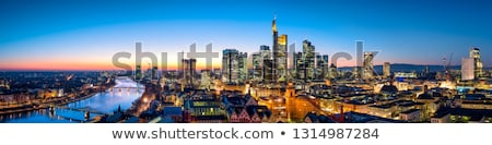 Frankfurt Németország kék ég iroda ház épület Stock fotó © meinzahn
