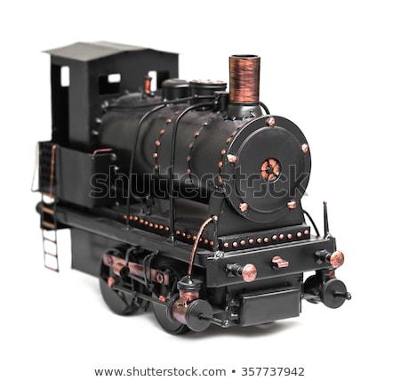 vintage · locomotief · model · stoomlocomotief · trein · speelgoed - stockfoto © oleksandro