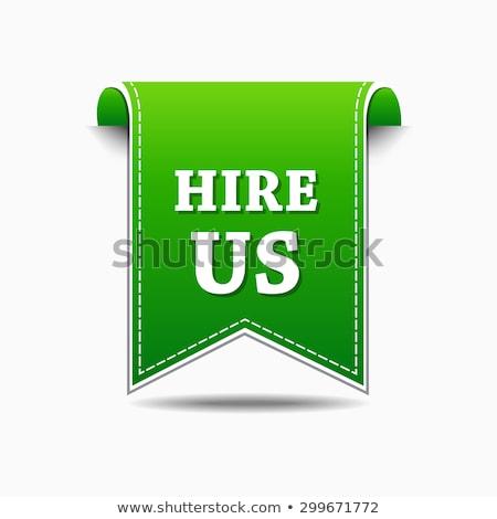 Hire Us Green Vector Icon Design Stock photo © rizwanali3d