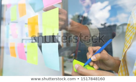 post it wall of employee stock photo © fuzzbones0