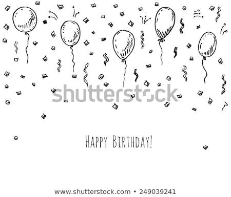 誕生日パーティー · デザイン · 要素 · ベクトル · お祝い · 帽子 - ストックフォト © netkov1