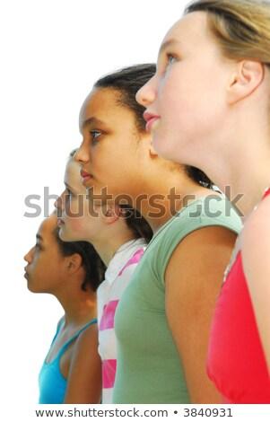 cara · correção · linha · jovem · corpo - foto stock © andersonrise