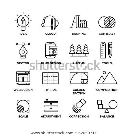Mérleg arany vektor ikon terv igazság Stock fotó © rizwanali3d