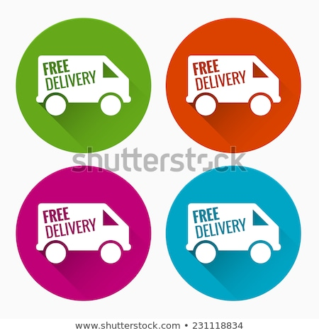 free delivery green vector icon button stock photo © rizwanali3d