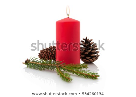 Stock photo: Christmas candles isolated