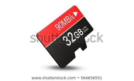 Memória cartão topo ver isolado branco Foto stock © pakete