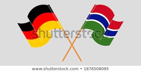 Niemcy Gambia flagi puzzle odizolowany biały Zdjęcia stock © Istanbul2009
